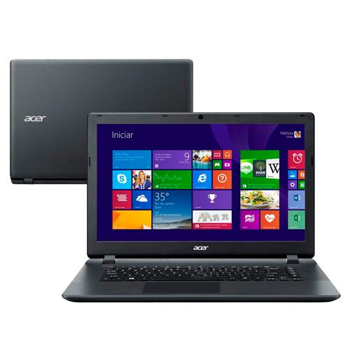 Notebook Acer ES1-511-C98N - Processador Dual Core, Memória de 2GB, HD 250GB, Leitor de Cartões, HDMI, Tela de 15,6