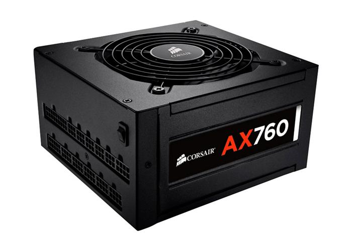 Fonte Corsair 760W Real Platinum - AX760 80 Plus - Modular, PFC Ativo, Ventoinha com redução de ruído, Sensor Térmico