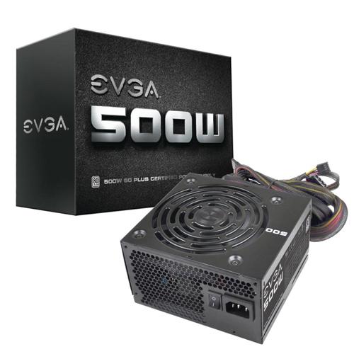 Fonte EVGA 500W - 80 Plus - PFC Ativo *