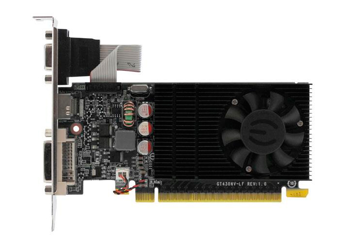 Placa de Vídeo Geforce GT730 EVGA - Mem. 1GB GDDR-3, Processador Cuda Cores 16, Clock 1400 MHz, HDMI, VGA, DVI, Low Profile