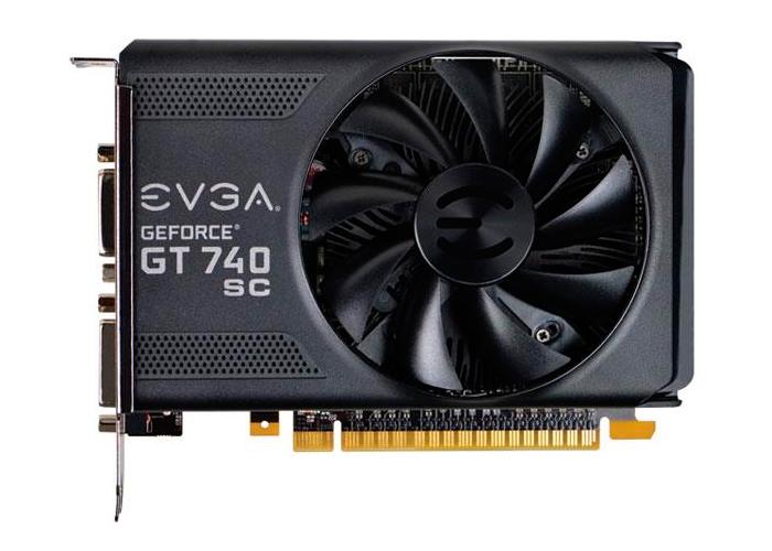 Placa de Vídeo Geforce GT740 EVGA - SuperCloked Mem. 1GB GDDR-3, Processador Cuda Cores 384, Clock 1085 MHz, MINI-HDMI, DVI
