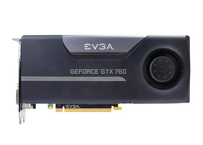 Placa de Vídeo Geforce GTX760 EVGA - ACX Mem. 4GB GDDR-5, Processador Cuda Dual 1152, Clock 6008 MHz, HDMI, DP, DVI