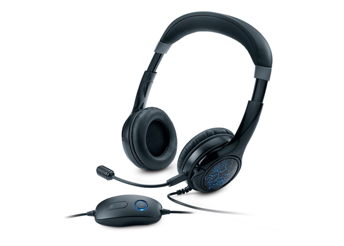 Headset GX Gaming Genius HS-G450 - LED Azul, Neodímio  40mm, USB, Cabo 2m