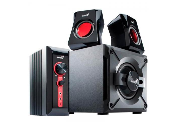Caixa de Som GX Gaming Genius SW-G2.1 1250 + 2 Caixas + 1 Subwoofer - 38W, Entrada Dupla PC TV DVD, Alto-Falante 5,25
