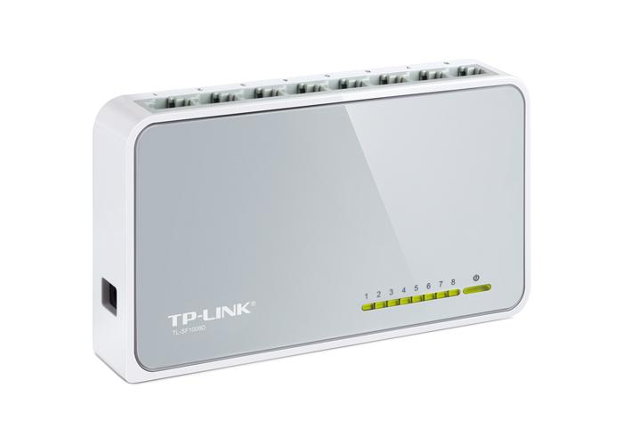 Switch TP-Link TL-SF1008D  -  100Mbps, Verde Ethernet , Fluxo IEEE 802.3x, 8 Portas Ethernet *