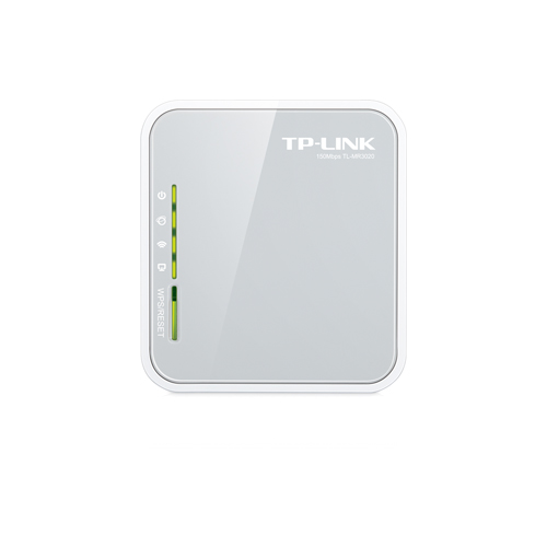 Roteador Wireless Portátil TP-Link N TL-MR3020 - 4G, 150Mbps, Antena Interna, Mini USB *