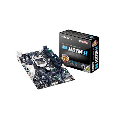 Placa Mãe Intel Gigabyte GA-H81M-H LGA 1150 - DDR3, Frequência até 1.600MHz, PCIe 16x (2.0)