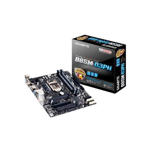 Placa Mãe Intel Gigabyte GA-B85M-D3PH - DDR3, Frequência até 1.333MHz, USB, PCI Express x16 (x16)