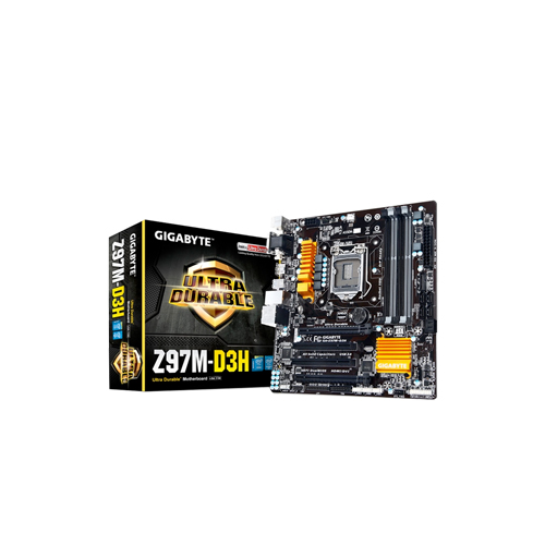 Placa Mãe Intel GA-Z97M-D3H - DDR3, CrossFire, HDMI, USB, Dual Channel, Frequência até 3.100MHz, PCI Express x16