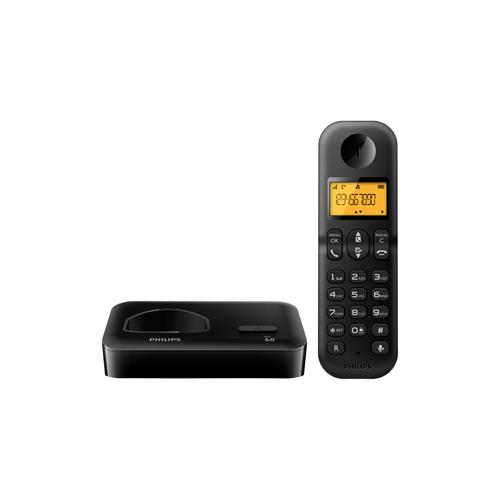 Telefone Philips Sem Fio D1501B - Identificador de Chamadas, Agenda Telefônica, Display Luminoso 1.6