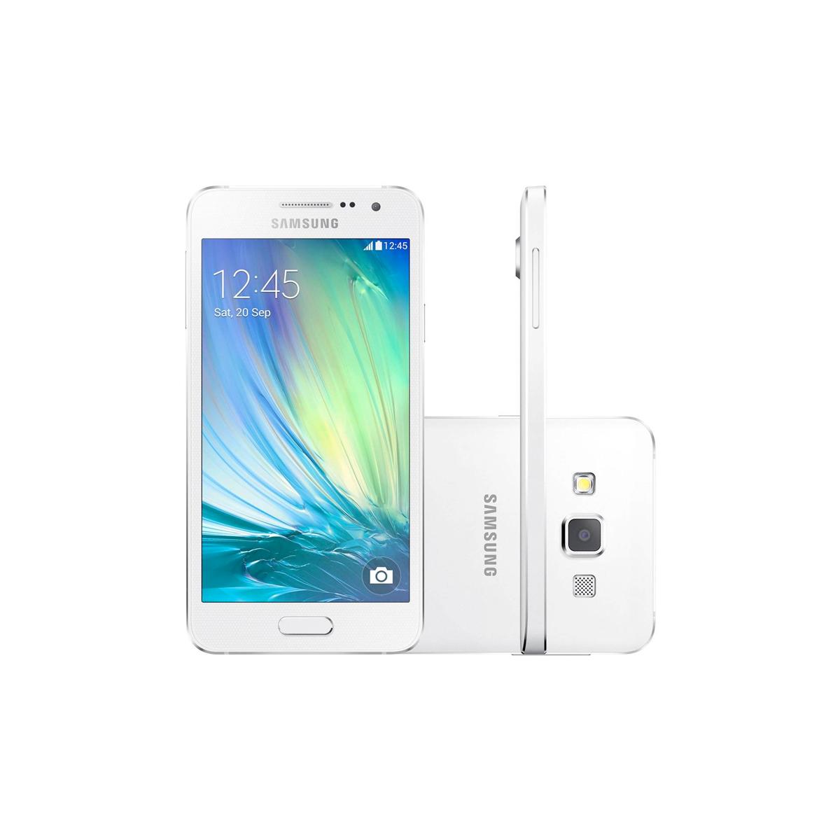 Celular Samsung Galaxy A3 GS-A300- 16GB, 4G, Duos, Android 4.4, Câmera de 8 MP, Vídeo em Full HD, Selfie Panorâmica, Quad Core 1.2 GHz - Desbloqueado ANATEL
