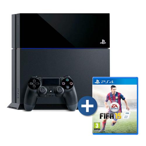 Console Playstation 4 + FIFA 15 - HD 500GB, chip 8 núcleos, 8GB GDDR5, Controle Dualshock 4