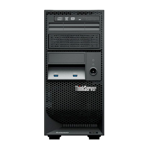 Servidor Lenovo Torre TS140 - Intel Quad Core, Velocidade 3,2Ghz, Memória 8GB UDIMM, HD de 1TB, Leitor de mídias DVD RW *