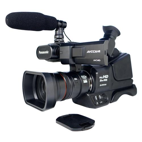 Filmadora Panasonic AG-AC8PB - AVCCAM HD, Sensor MOS 1/4.5, Vídeo Full HD, Zoom Óptico 21x - Inteligente 50x, Lente Grande Angular 28mm,Tela LCD de 3