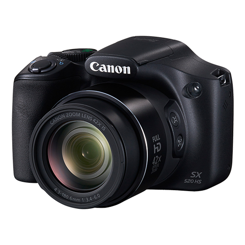 Canon Power Shot SX520HS - 16MP, Sensor CMOS, DIGIC 4+, Vídeo Full HD, Zoom 42x, Tela LCD de 3