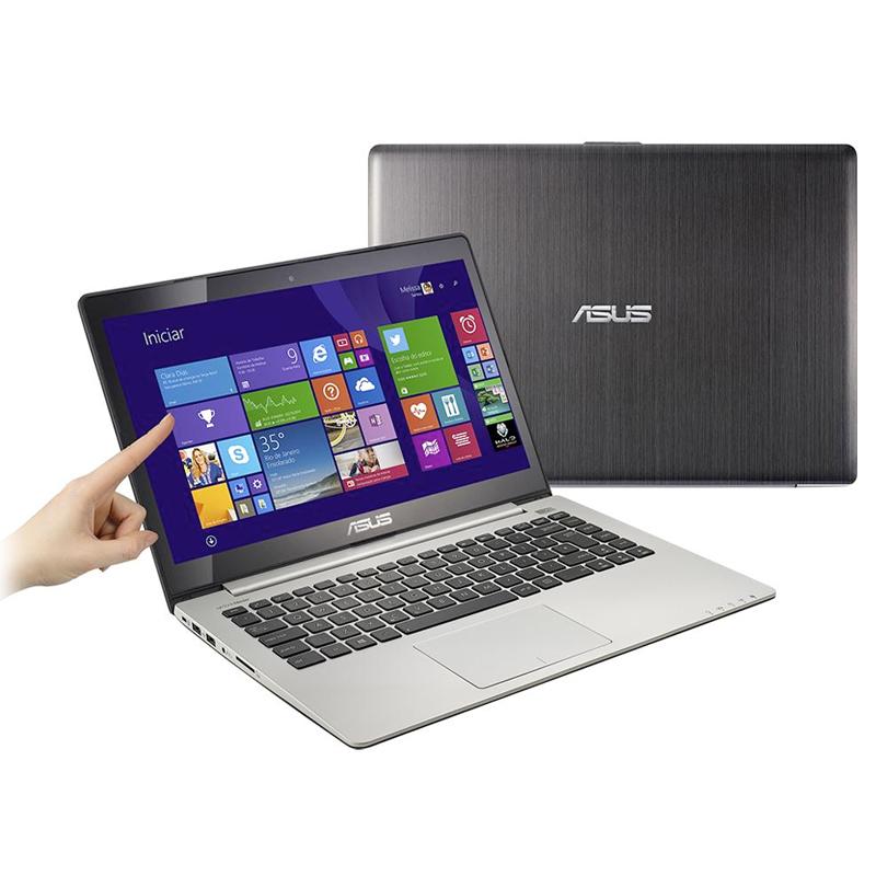 """Notebook Asus VivoBook S400 - Intel Core i3, 4GB de Memória, HD de 500GB, Leitor de Cartão, HDMI, Windows 8, Tela LED Touchscreen de 14"""""""