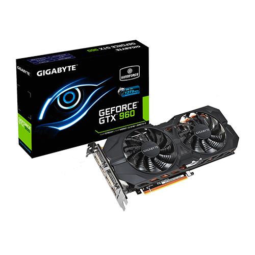 Placa de Vídeo GeForce GTX960 - Mem. 2GB GDDR-5, Clock 7010 MHz, DVI-I, DVI-D, HDMI, Displsay Port