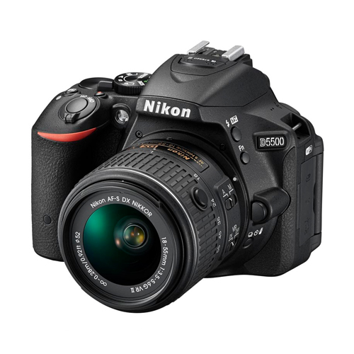 Câmera Digital Nikon SLR D5500 + Lente 18-55mm - 24.2MP, Sensor CMOS DX, Vídeo Full HD, EXPEED 4, ISO 100-25.600, 5 QPS, Tela Rotativa 3.2
