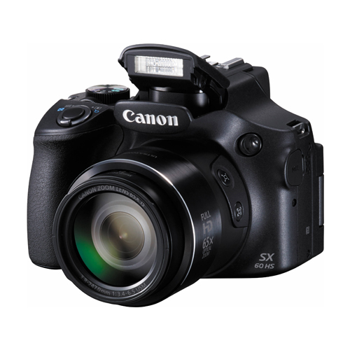 "Camera Canon Power Shot SX60HS - 16MP, Sensor CMOS, DIGIC 4, Vídeo Full HD, Zoom Óptico 65x, Wifi, Tela Rotativa 3"" *"
