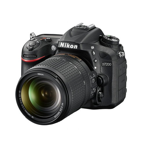 Camera Digital Nikon SLR D7200 + Lente 18-140mm - 24.1MP, Sensor CMOS DX, EXPEED 4, ISO 100-25.600, 6 QPS, Wifi, Tela de 3.2