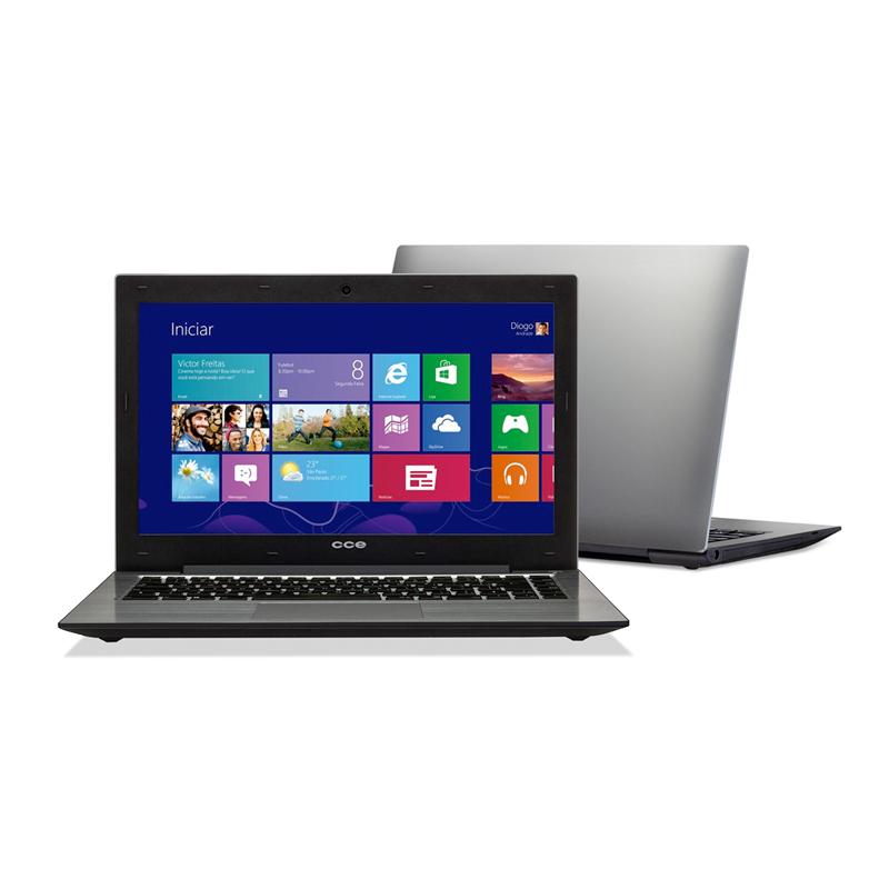 """Notebook CCE 345 - Intel Core i3, 4GB de Memória, HD de 500GB, Tela LED de 14"""""""