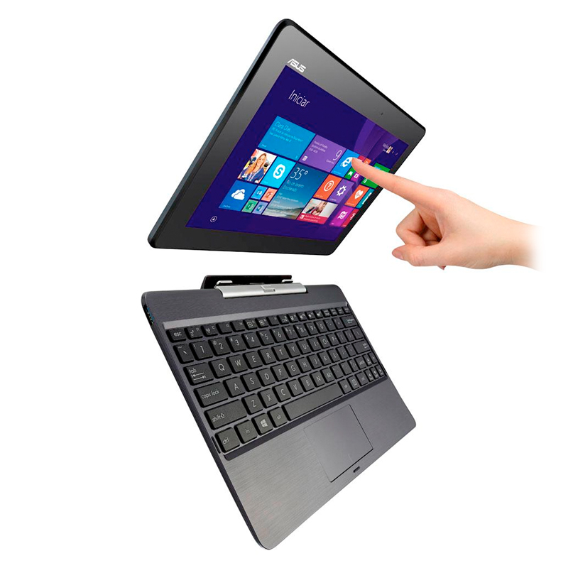 Notebook 2 em 1 Asus T100TA-DK056B Transformer Book - Quad Core, 2GB de Memória, HD de 500GB + 32GB, Tela LED Touchscreen de 10
