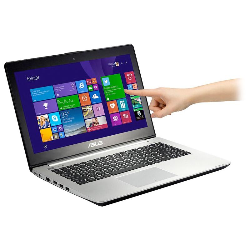 """Notebook Asus VivoBook S451 - Intel Core i7, Memória de 8GB, HD de 500GB, HD Graphics 4400, Câmera HD, Bluetooth, Tela LED de 14"""" Touchscreen"""