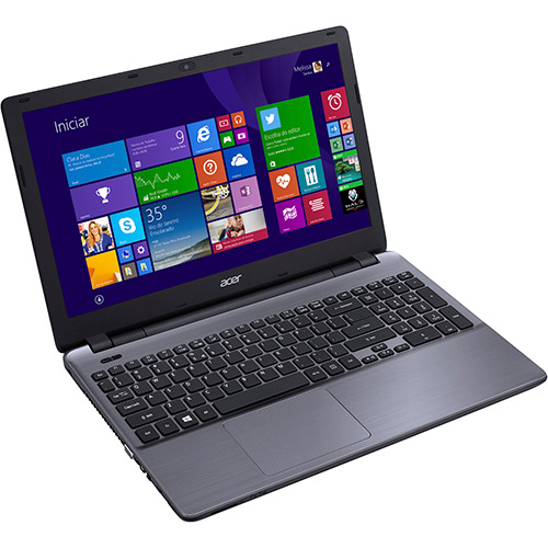 Notebook Acer Aspire E5 57MJ - Intel Core i5, 4GB de Memória, HD de 1TB, Placa de Vídeo GeForce de 2GB, HDMI, Tela LED de 15.6