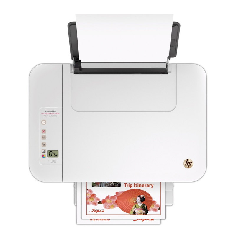 Impressora HP Multifuncional DeskJet Ink Advantage 2545 - Jato de Tinta, Wireless, Copiadora, Scanner