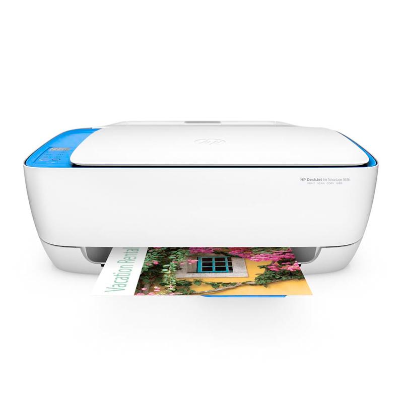 Impressora Multifuncional HP DeskJet Ink Advantage 3636 / 3635 - Jato de Tinta, Wireless, Copiadora, Digitalizadora, ePrint *