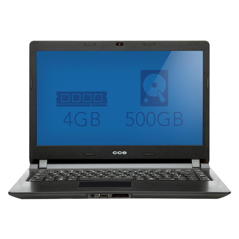 "Notebook CCE Ultra Thin - Processador Dual Core, Memória de 4GB, HD de 500GB, Gravador de DVD, Leitor de Cartões, Tela LED de 14"" - U25L *"