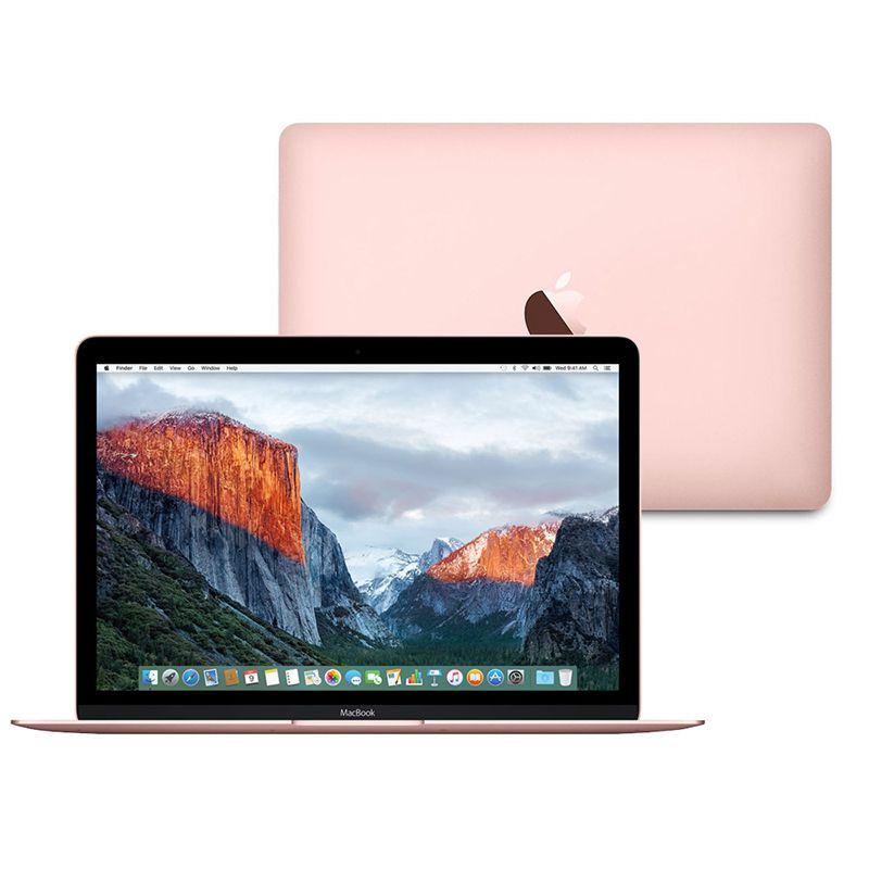 Notebook Apple MacBook Rose - Intel Core M3, 8GB de Memória, SSD de 256GB, Force Touch - MMGL2 (início de 2016), Ouro Rosa *
