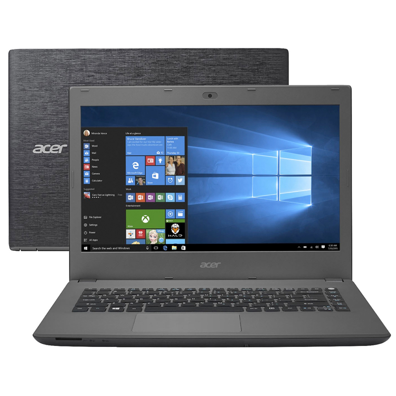 "Notebook Acer Aspire E5-473-5896 - Intel Core i5 , 4GB de memória, HD de 1TB, HDMI, Bluetooth, Tela LED de 14.1"", Windows 10 (showroom)"