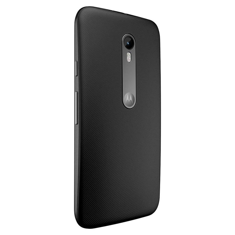 Smartphone Motorola Moto G3 3º Geração com 8GB + SD de 16GB, Resistente à água, 4G, Dual chip, Câmera de 13MP, Processador Quad Core - XT1543, Preto