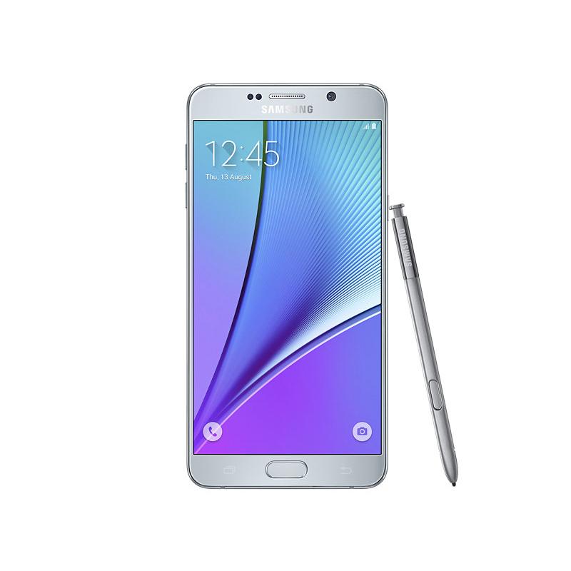 "Smartphone Samsung Galaxy Note 5 com 32GB, Vídeos em 4K, S-Pen, Processador Octa-core, 4G, Câmera CMOS de 16GB, Tela Super AMOLED de 5.7"" - N920, Prata"