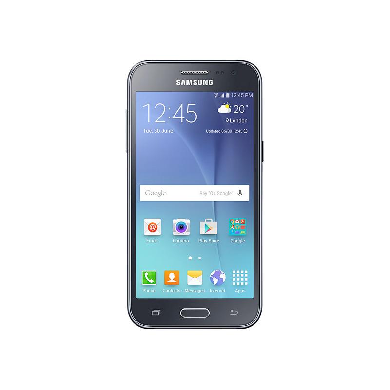 """Smartphone Samsung Galaxy J2 com Processador Quad Core, 4G, Dual Chip, Câmera CMOS de 5MP, Tela Super AMOLED de 4.7"""" - SM-J200M Duos, Preto *"""