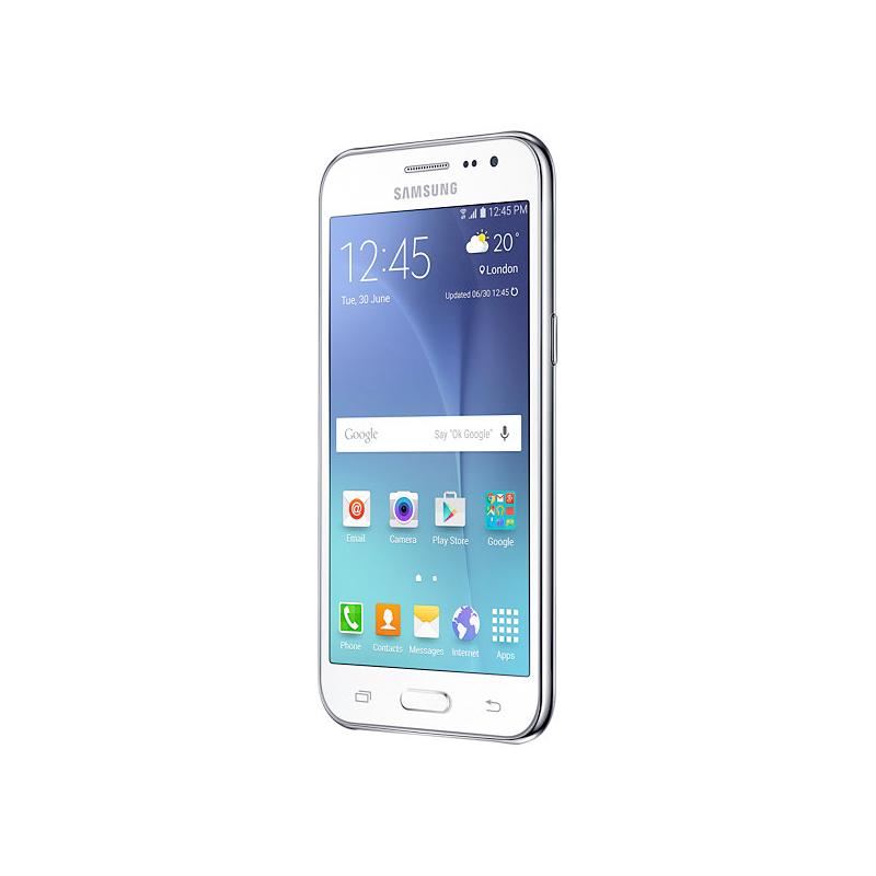 """Smartphone Samsung Galaxy J2 com Processador Quad Core, 4G, Dual Chip, Câmera CMOS de 5MP, Tela Super AMOLED de 4.7"""" - SM-J200M Duos, Branco *"""