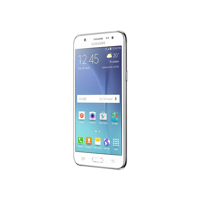 """Smartphone Samsung Galaxy J5 com 16GB, Câmera CMOS de 13MP, Flash Frontal, 4G, Dual Chip, Processador Quad Core, Tela Super AMOLED de 5.0"""" - SM-J500M Duos, Branco"""