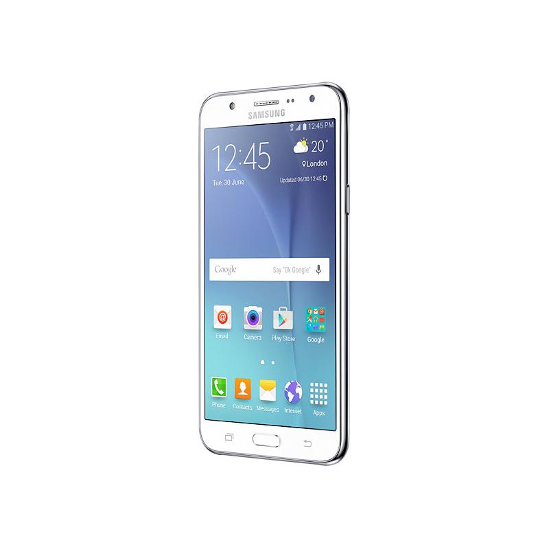 """Smartphone Samsung Galaxy J7 com 16GB, Processador Octa Core, 4G, Câmera CMOS de 13MP, Flash Frontal, Dual Chip, Tela Super AMOLED de 5.5"""" - SM-J700 Duos, Branco *"""
