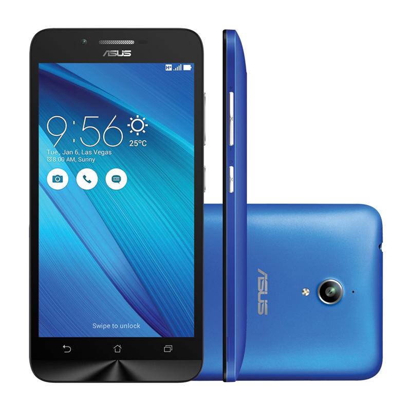 Smartphone Asus ZenFone Go com 16GB, Dual Chip, 3G, Câmera de 8MP, Processador Quad Core, Tela HD de 5