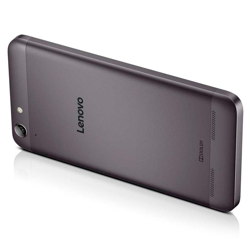 """Smartphone Lenovo Vibe K5 com 16GB, Processador Octa Core, 4G, Dual Chip, Câmera de 13MP, Tecnologia de áudio Dolby, Tela Full HD de 5"""" - Grafite/Preto"""
