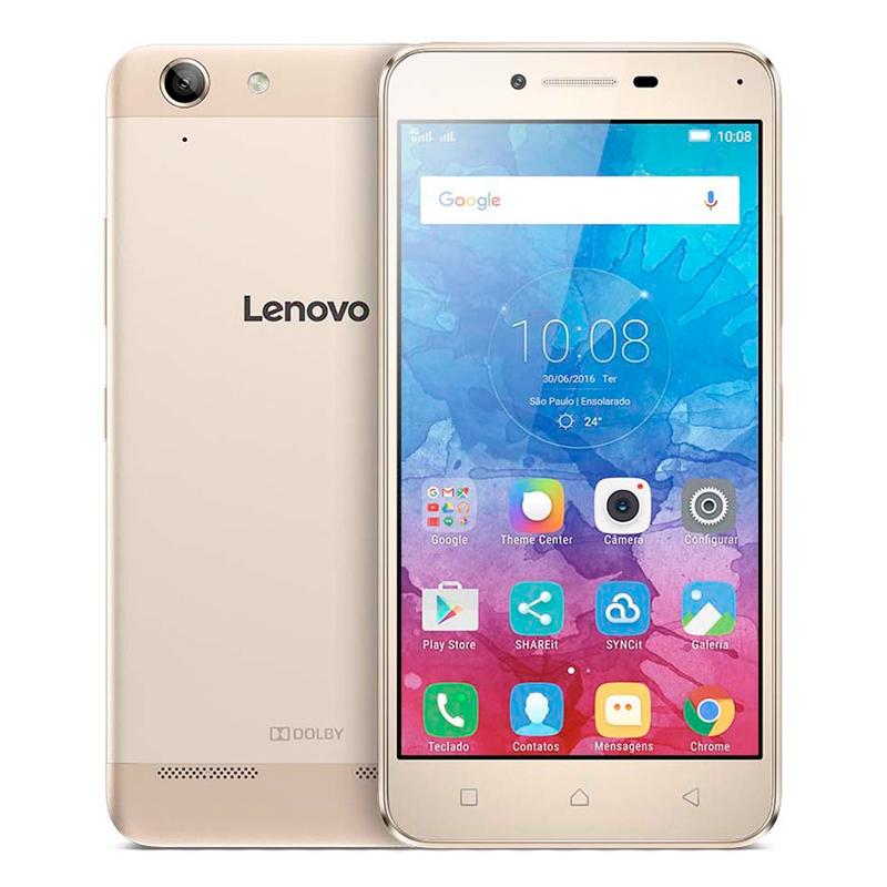 """Smartphone Lenovo Vibe K5 com 16GB, Processador Octa Core, 4G, Dual Chip, Câmera de 13MP, Tecnologia de áudio Dolby, Tela Full HD de 5"""" - Dourado"""