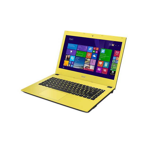 "Notebook Acer Aspire E - Intel Quad Core, 8GB de Memória, HD de 1TB, Tela LED de 15.6"", Windows 10 - E5-532, Amarelo"