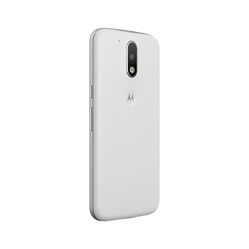 Smartphone Motorola Moto G4 Plus com 16GB, Leitor Biométrico, Câmera de 16MP com Foco Laser e PDAF, Octa Core, Resistente à água, Turbo Carregamento, 4G, Dual Chip - XT1642, Branco *