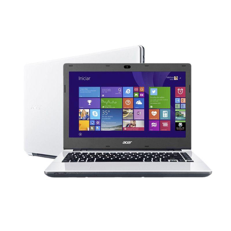 """Notebook Acer Aspire E5 - Intel Core i7, Memória de 8GB, Placa de Vídeo Geforce de 2GB, HD de 1TB, Bluetooth, Tela LED de 14"""" - E5-471G, Branco"""