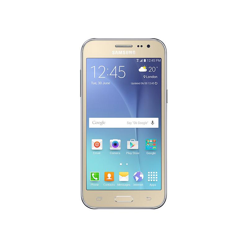 """Smartphone Samsung Galaxy J2 com Processador Quad Core, Dual Chip, Câmera CMOS de 5MP, Tela Super AMOLED de 4.7"""" - SM-J200H Duos, Dourado *"""