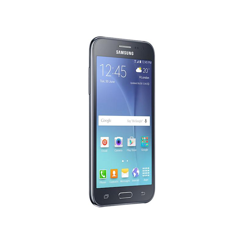 Smartphone Samsung Galaxy J2 com Processador Quad Core, Dual Chip, Câmera CMOS de 5MP, Tela Super AMOLED de 4.7
