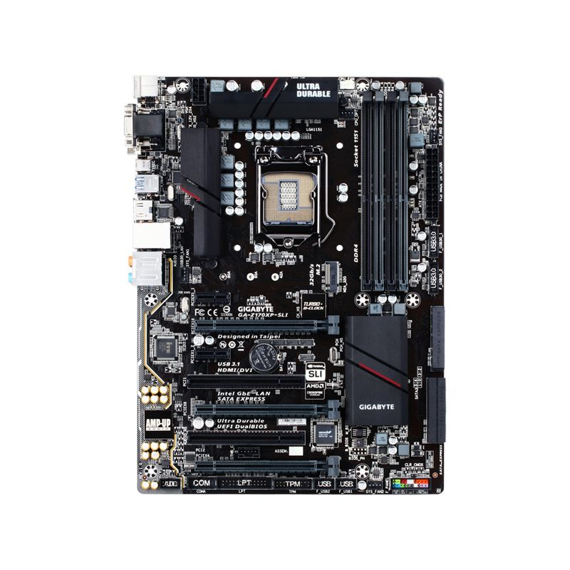 Placa Mãe GIGABYTE ATX GA-Z170XP-SLI - DDR4, HDMI, USB 3.1 Tipo C, SATA Express, M.2 , SLI/CFX, Compatível p/ Intel LGA 1151