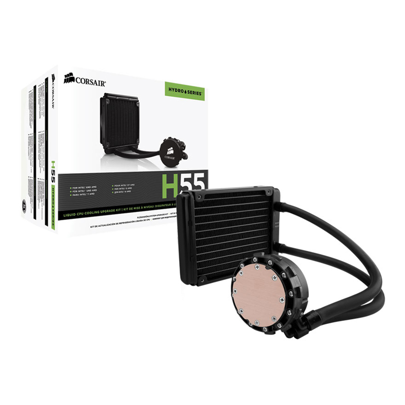 Watercooler Corsair H55 Radiador de 120MM - CW-9060010-WW *