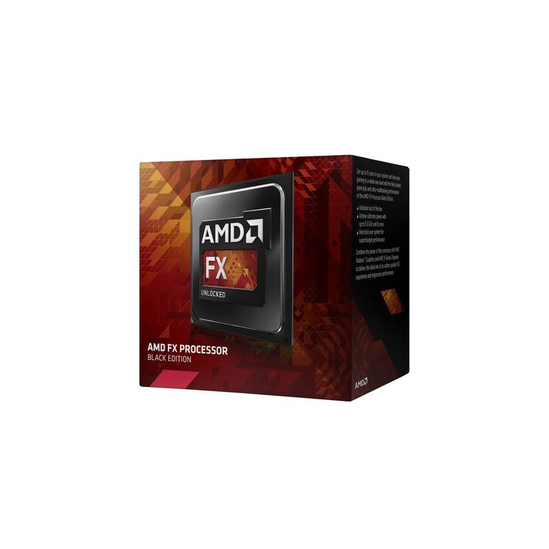 Processador AMD FX 4300 Black Edition Cache de 8Mb, Socket de AM3+ - FD4300WMHKBOX *